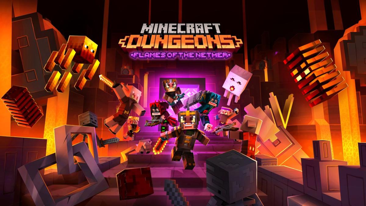 Minecraft Dungeons, Flames of the Nether DLC'sinde Yeni Ücretsiz İçerikler Bulunuyor