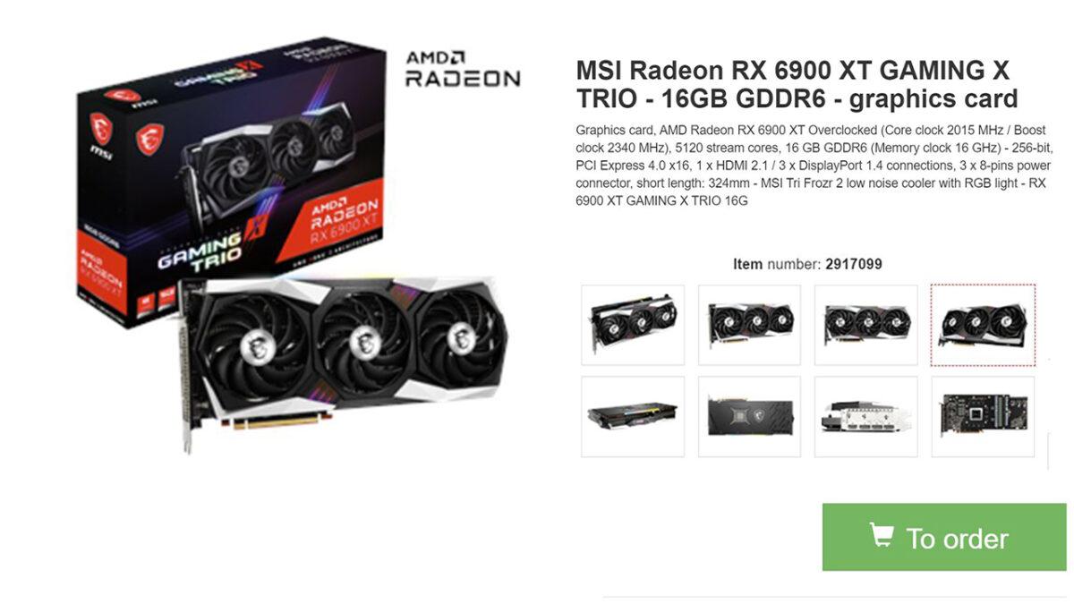 MSI Radeon RX 6900 XT GAMING X Trio Fiyatı Yayınlandı