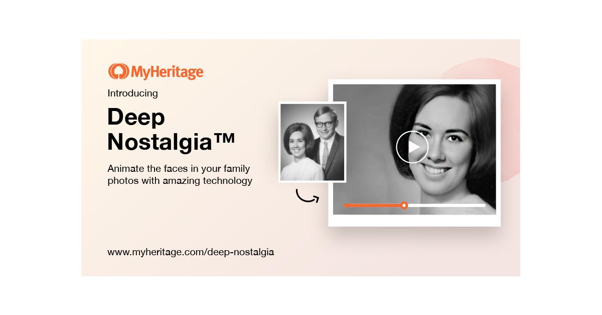 MyHeritage'in Yeni Yapay Zeka Aracı Size Duygusal Anlar Yaşatacak