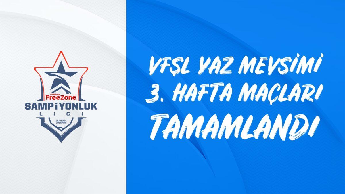 Vodafone FreeZone Şampiyonluk Ligi 2021 3. Hafta Maçları Geride Kaldı