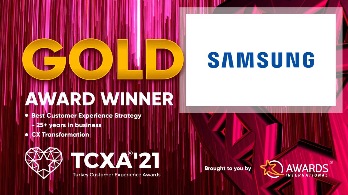 Müşteri Deneyimi Yarışmasında Samsung Türkiye'ye İki Birincilik Ödülü