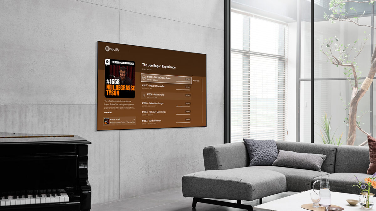 LG Smart TV Kullanıcıları, Spotify Video Podcast'lerini Artık Büyük Ekranda Deneyimleyebilecekler