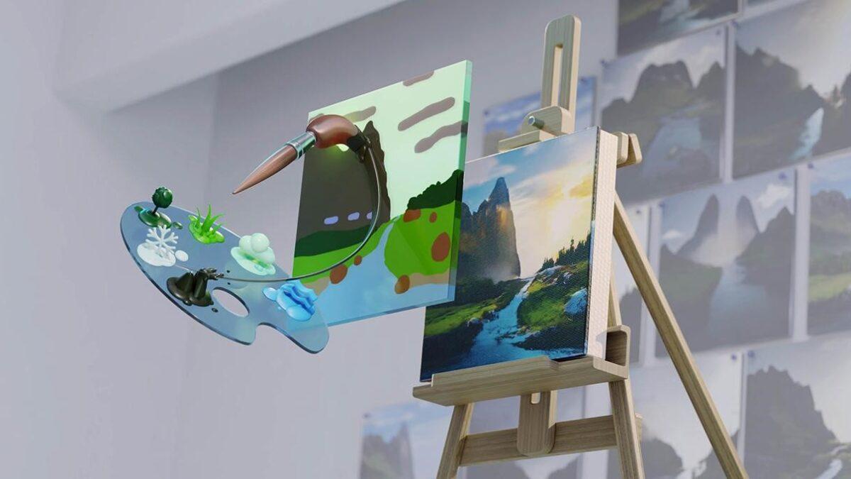 NVIDIA Canvas ile Çizimlerinizi Çarpıcı Manzaralara Dönüştürün