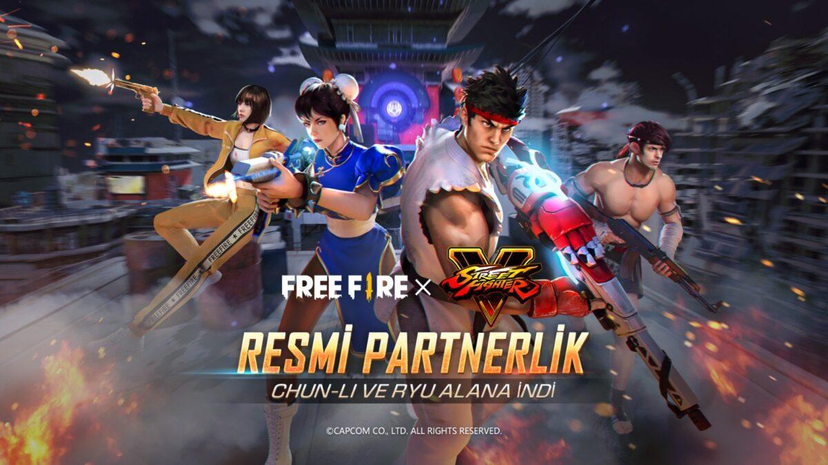 Free Fire'de Street Fighter V Küresel İş Birliği Bugün Başlıyor!