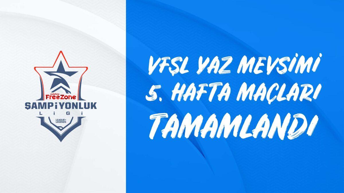 Vodafone FreeZone Şampiyonluk Ligi 2021 5. Haftasında Nasr Esports Zirvenin Ortağı