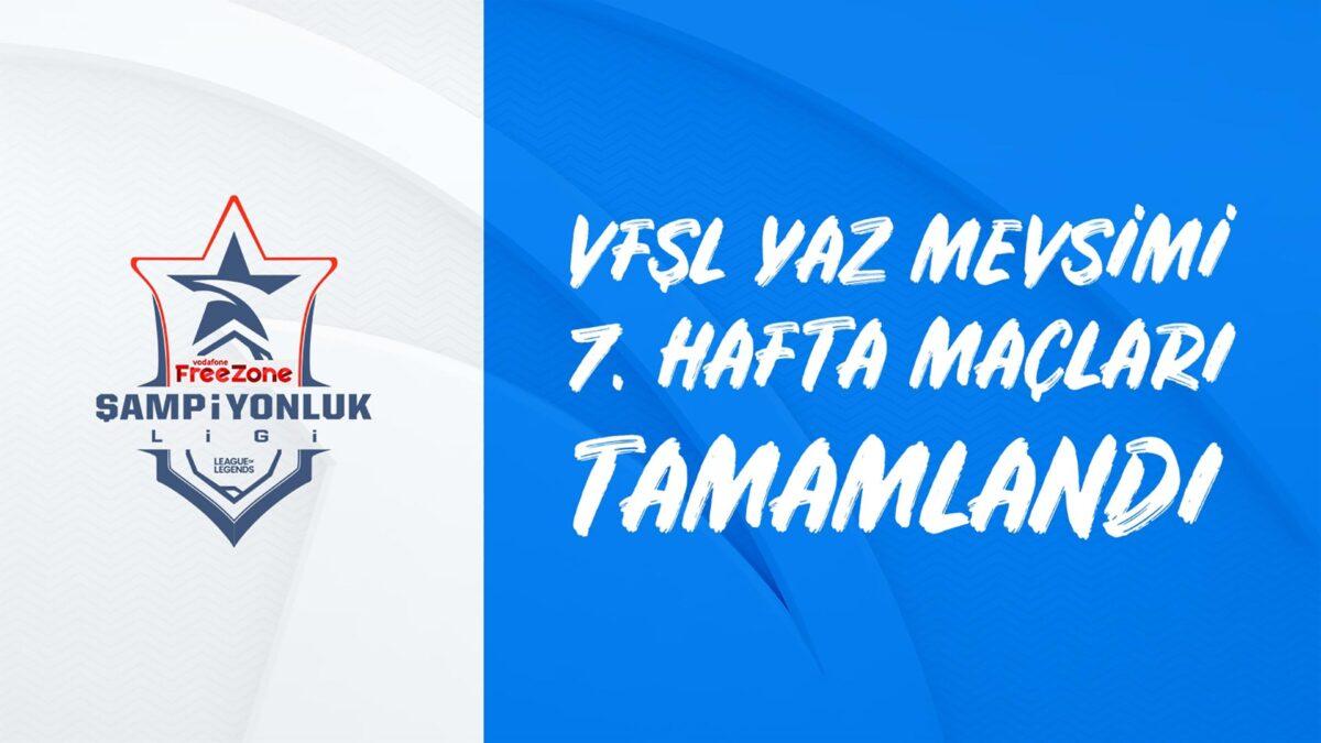 Vodafone FreeZone Şampiyonluk Ligi'nde 7. Haftada Galatasaray ESpor  Liderliğe Devam Ediyor