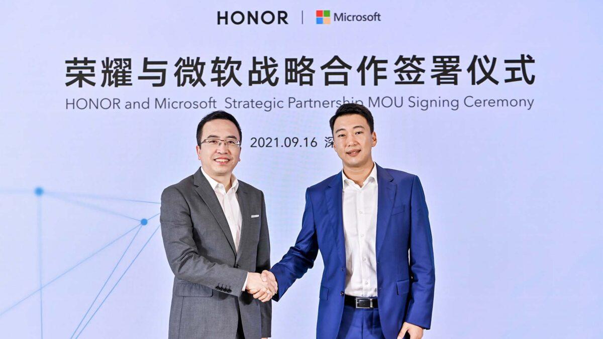 HONOR ve Microsoft'tan stratejik ortaklık